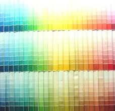 paint color sample display