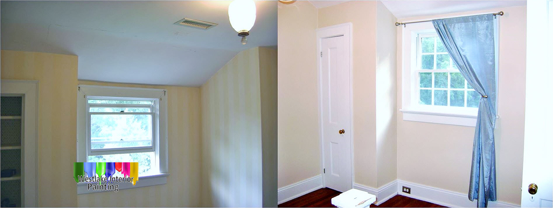 wallpaper removal before and after